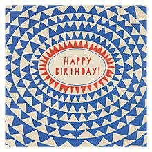 Buy Pigment Triangle Pattern Birthday Card Online At Johnlewis
