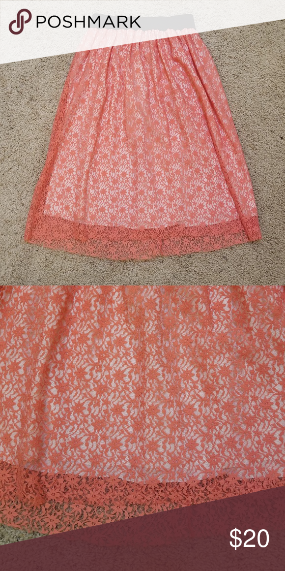 174761cab5fc1a NWT Pink Lace Skirt Beautiful lace skirt from Israel. Tags are still on. Tag
