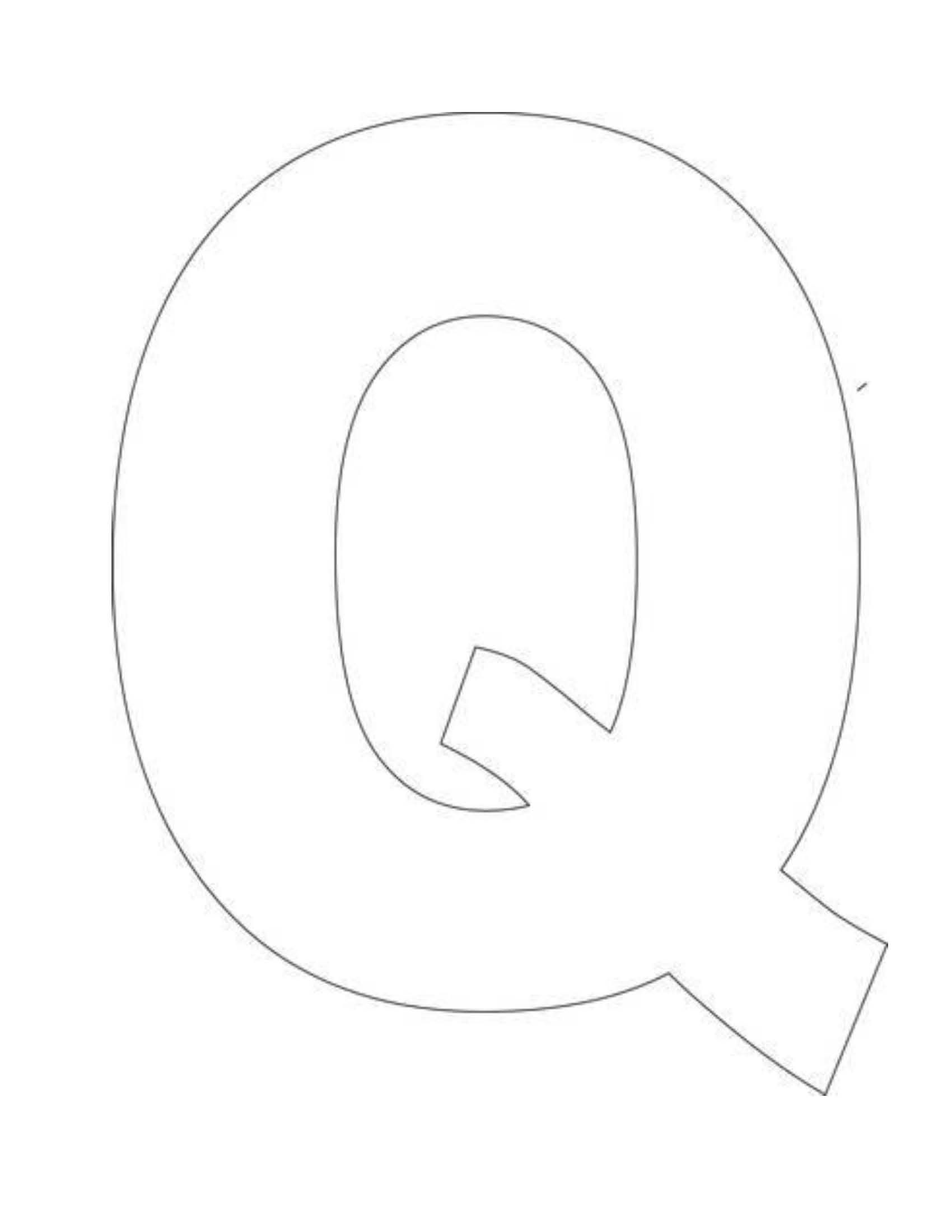 Alphabet Letter Q Template For Kids