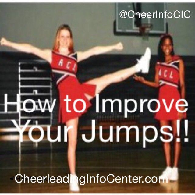 ❤️ if you want to improve your jumps  Check out our website CheerleadingInfoCenter.com for tons of tips and stretches to help you improve your jumps today!!