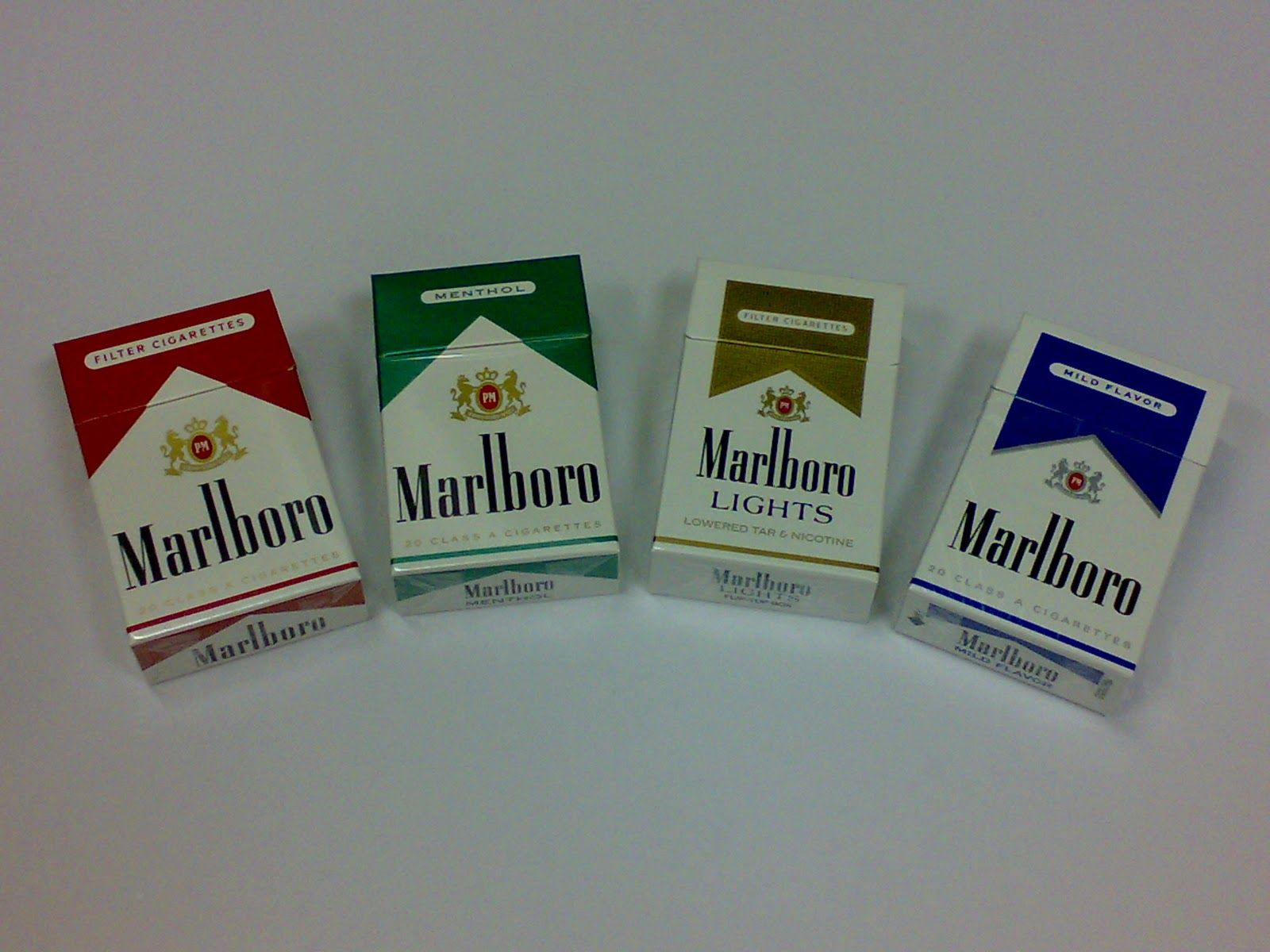 List brands of cigarettes Marlboro in Pennsylvania