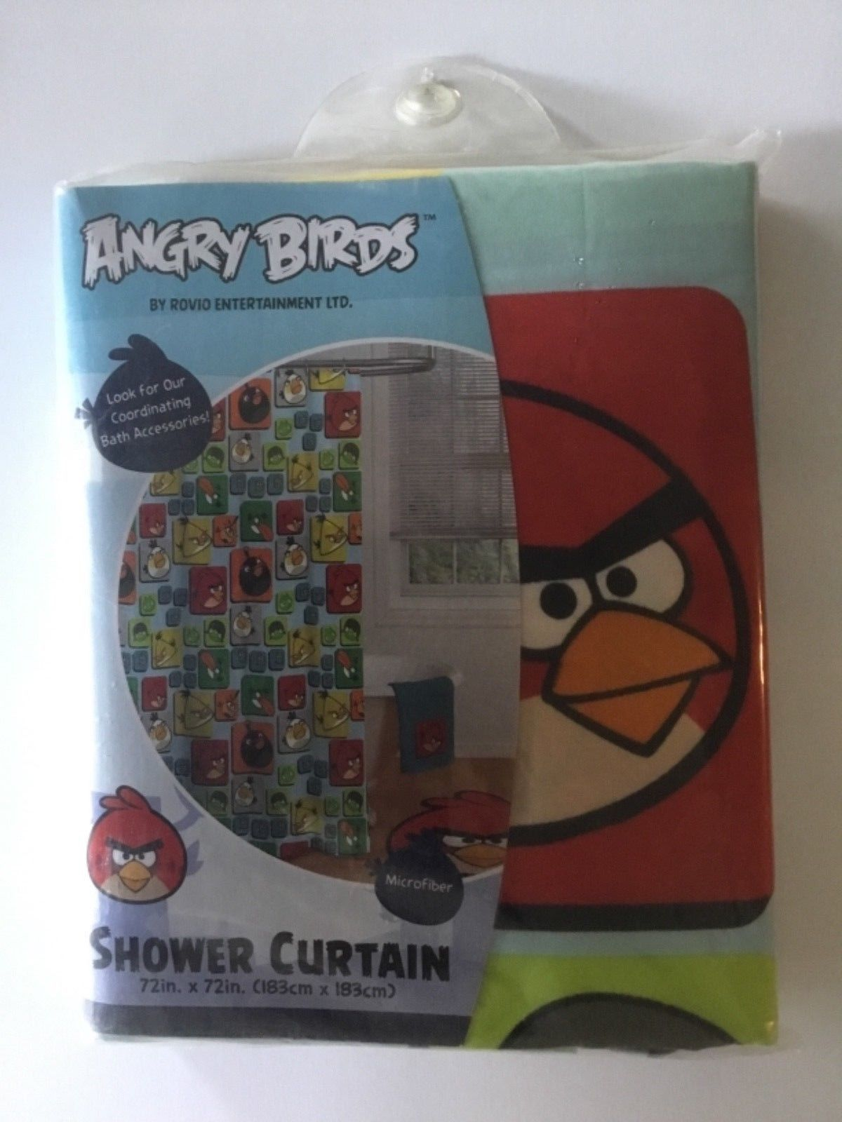 Bath 115624 Angry Birds Shower Curtain BUY IT NOW ONLY 1099 On