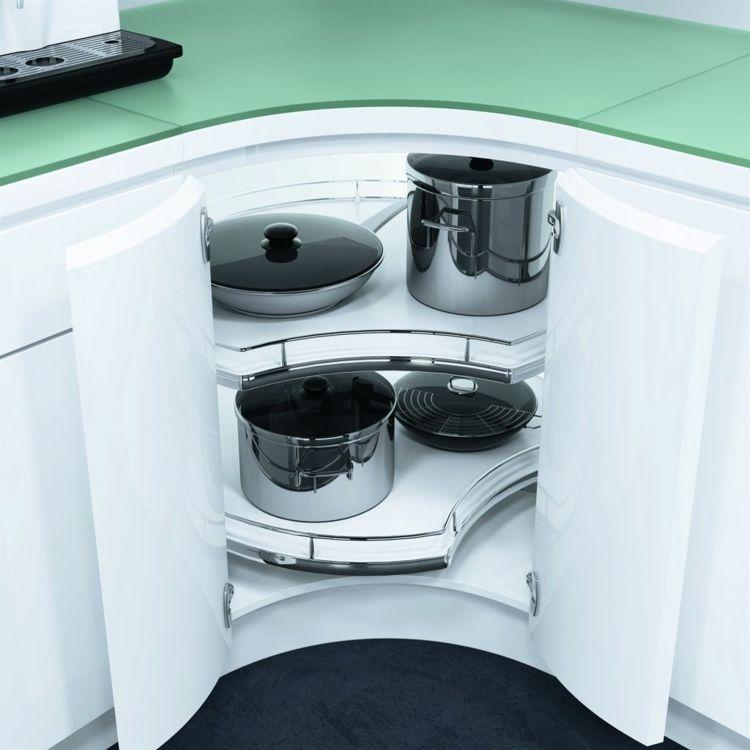 Den Eckschrank der Küche komfortabel gestalten – 20 Ideen ...