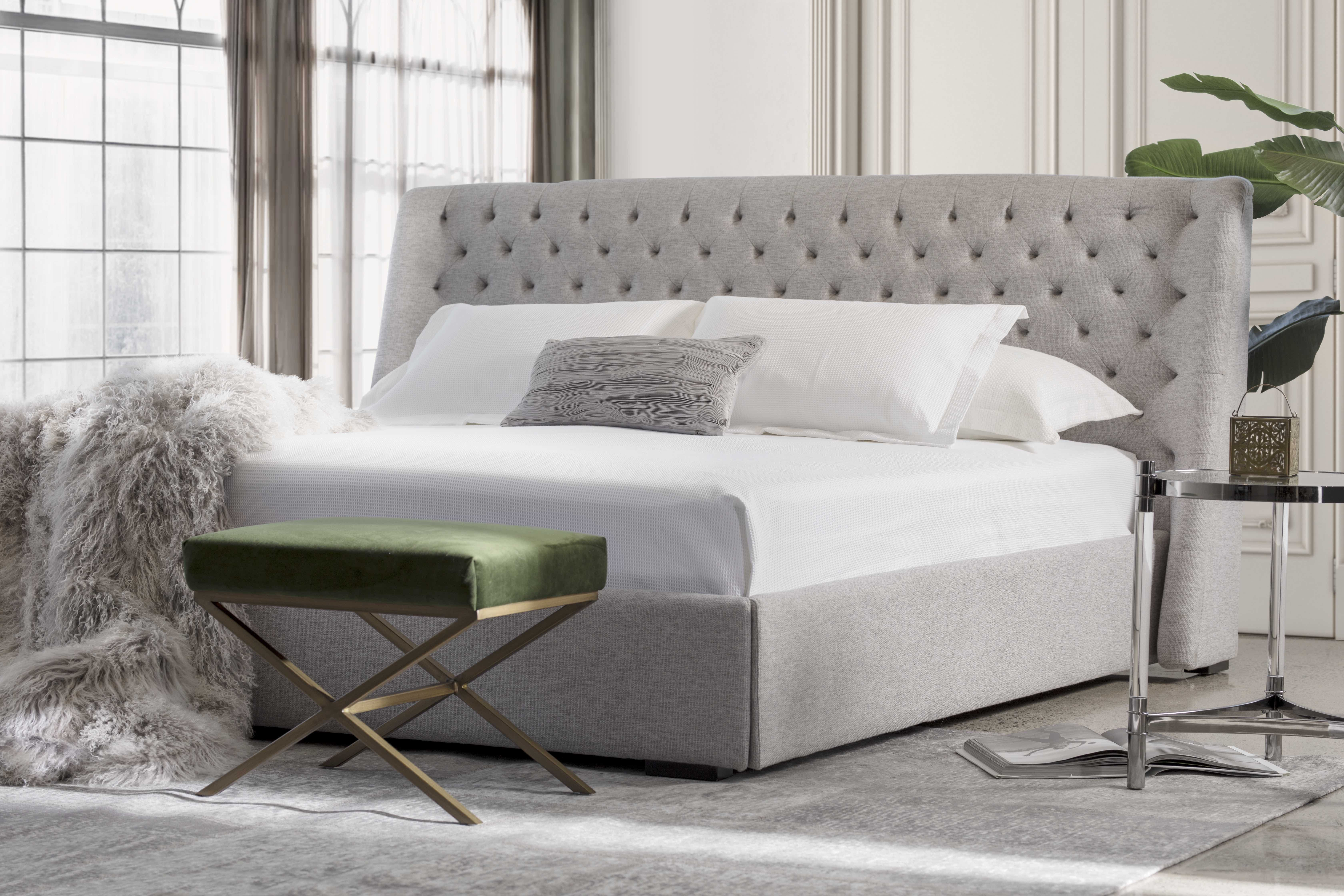 Jacob Lit Upholstered Beds Bed Tufted Headboard