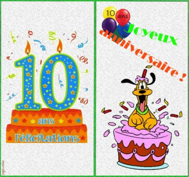 carte anniversaire 10 ans jackshite. Black Bedroom Furniture Sets. Home Design Ideas