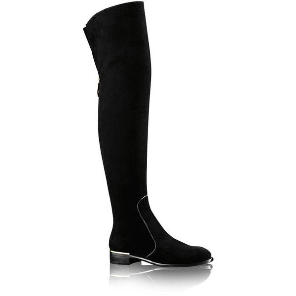 Masterclass Thigh Boot ❤ liked on Polyvore featuring shoes, boots, above the knee boots, over the knee boots, over knee boots, above knee boots and thigh boots