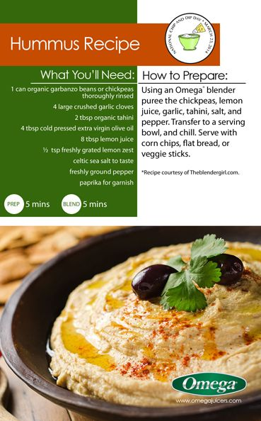 rich u0026 creamy hummus recipe with omega juicers try