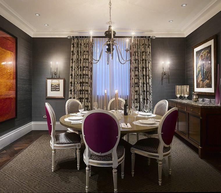 déco de salle à manger avec du papier peint gris Déco Pinterest - table de salle a manger grise