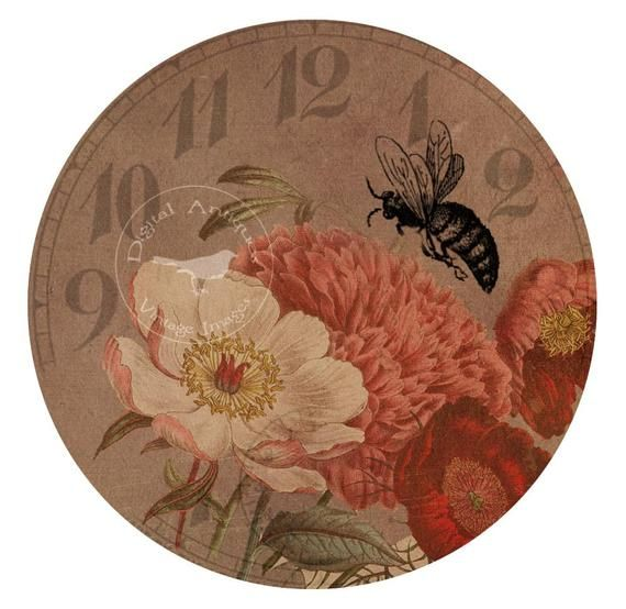 Bee Time Vintage Printable Images Digital Download