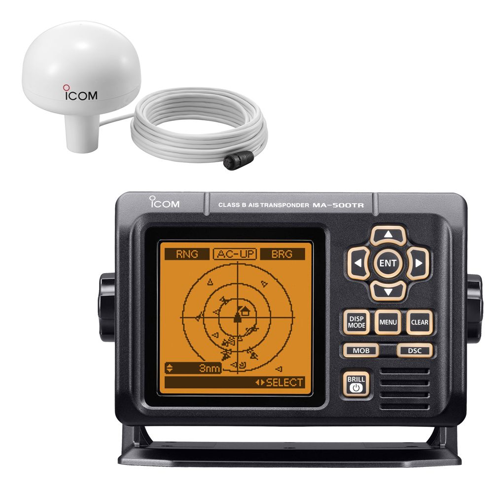 Icom Ma 500tr Ais Transponder W Mx G5000 Gps Receiver Class B Includes Programming Boat Parts For Less Class B Gps Audio Equipment