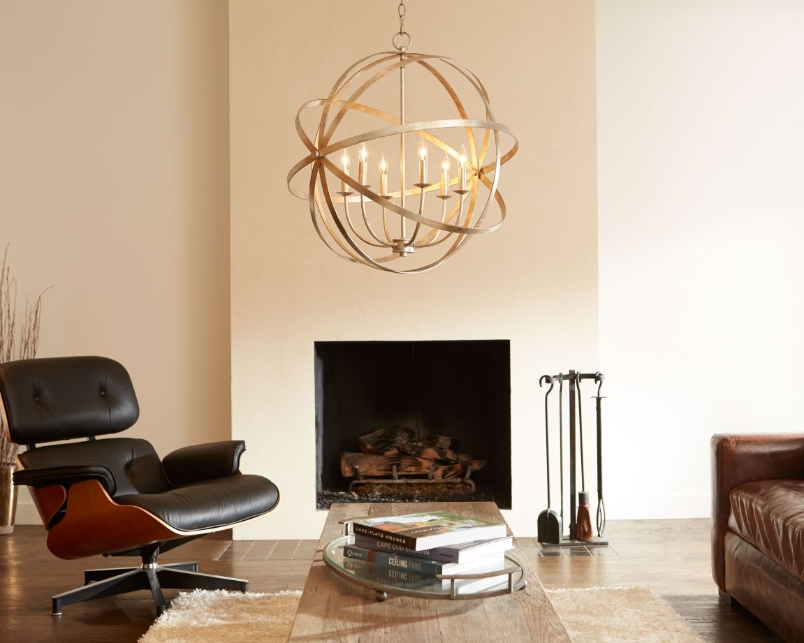 Quorum celeste chandelier a cool sphere style finished in a quorum celeste chandelier a cool sphere style finished in a beautiful silver leaf arubaitofo Image collections