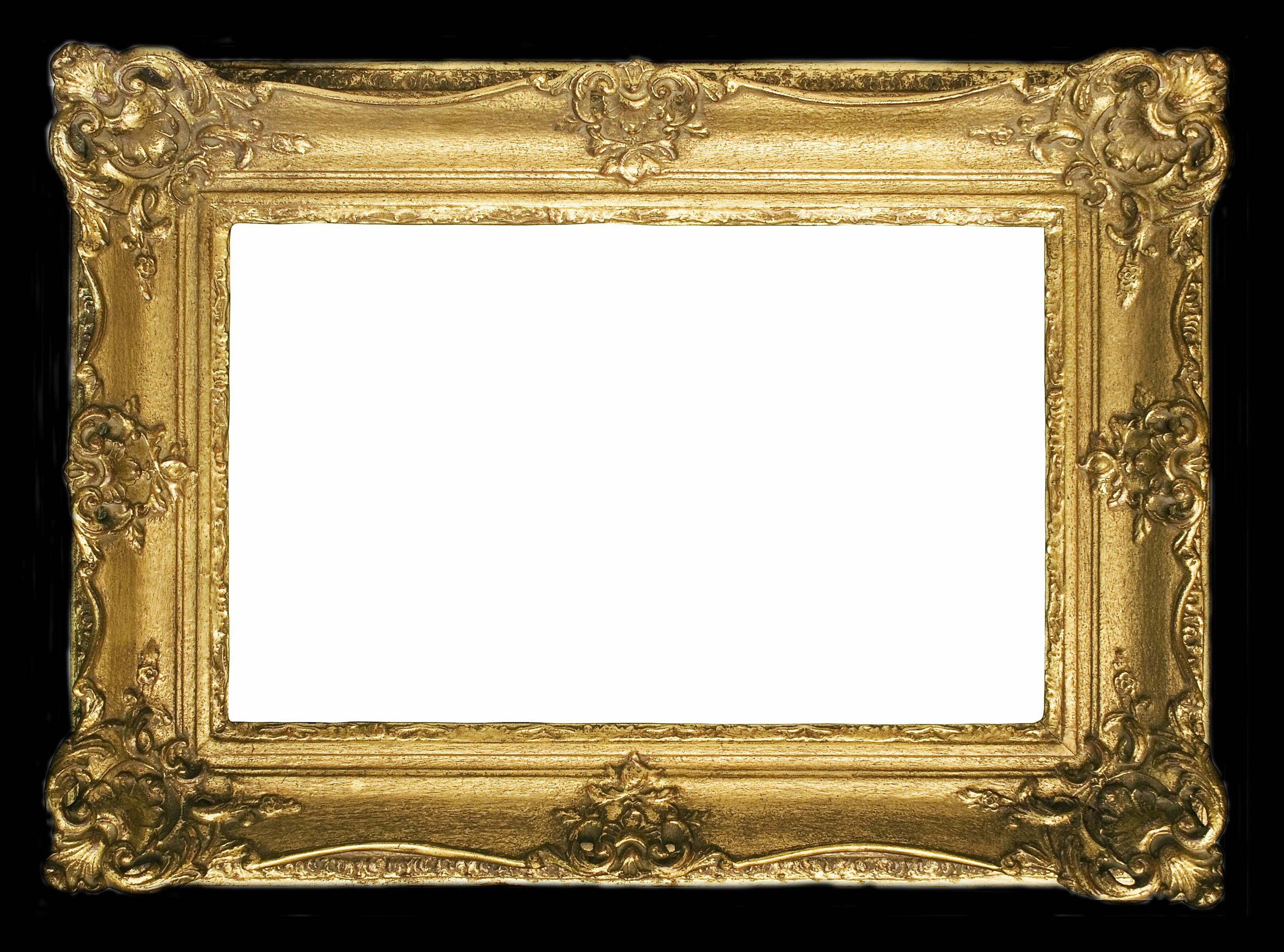 Gold picture frames old gold frames presenting digital for How to make vintage frames