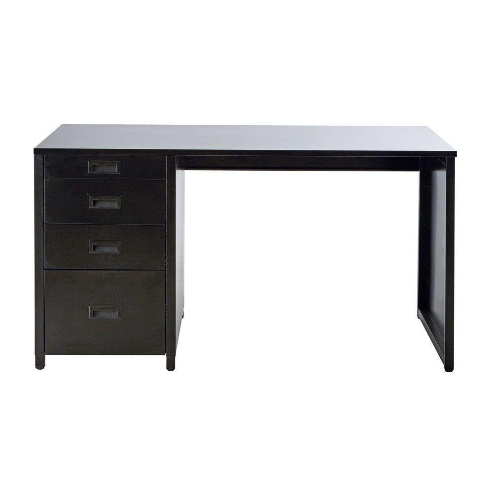 Zwart metalen bureau L 140 cm Loft Kinderkamer Pinterest