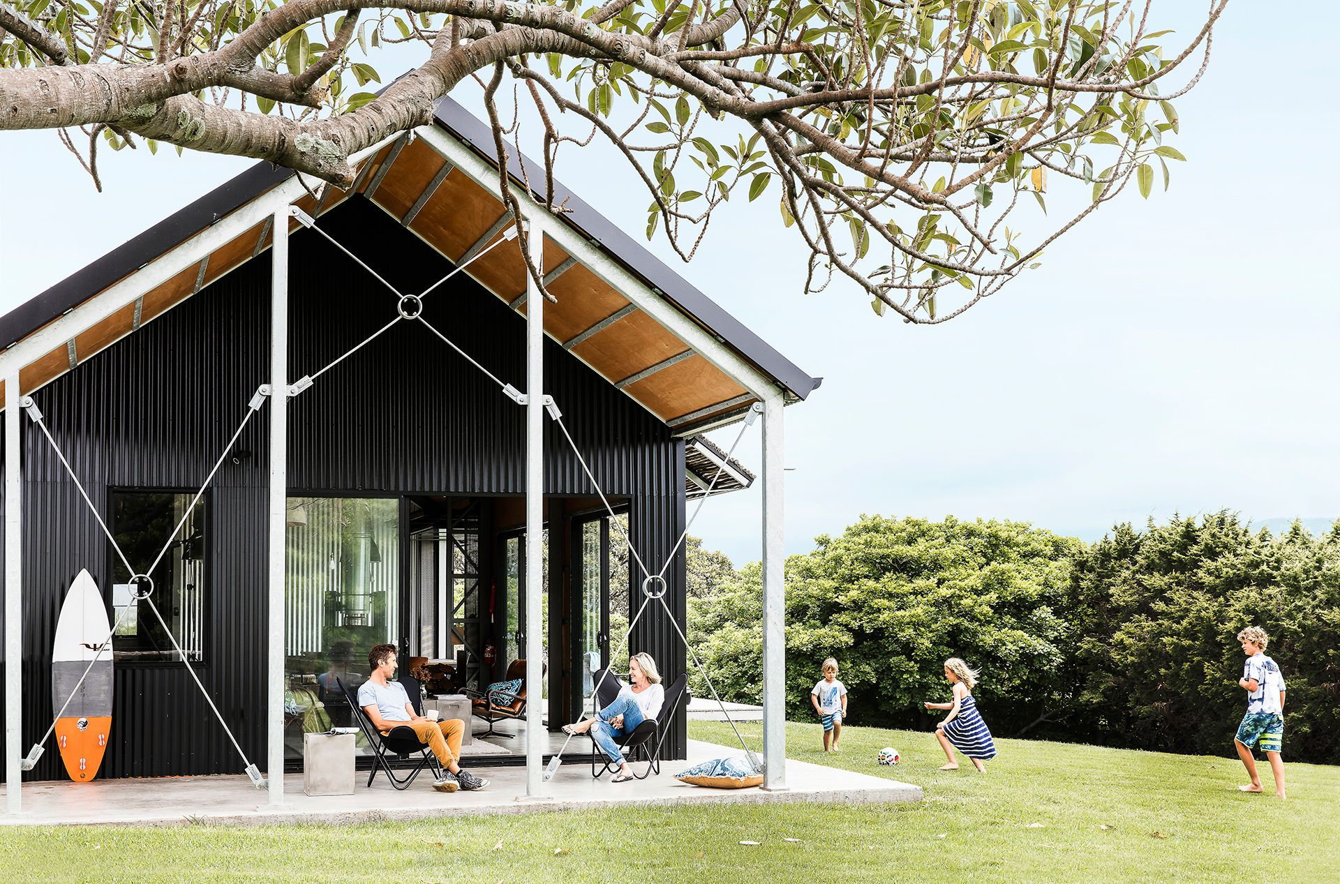 shed converted into a holiday house on the nsw south coast