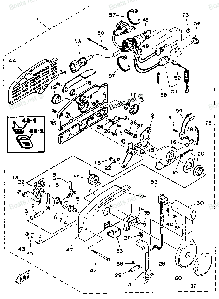 yamaha outboard remote control comp parts 703 diagram and parts Car Outboard  Motors, Diagram,