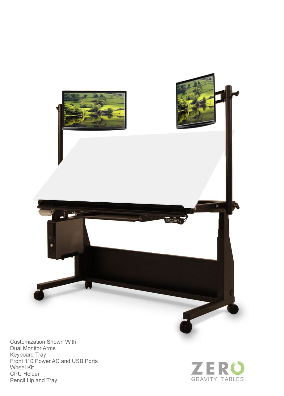 Standing Design Drafting Table | Sit To Stand Draft Desk | Designer Art U0026  Architecture Office