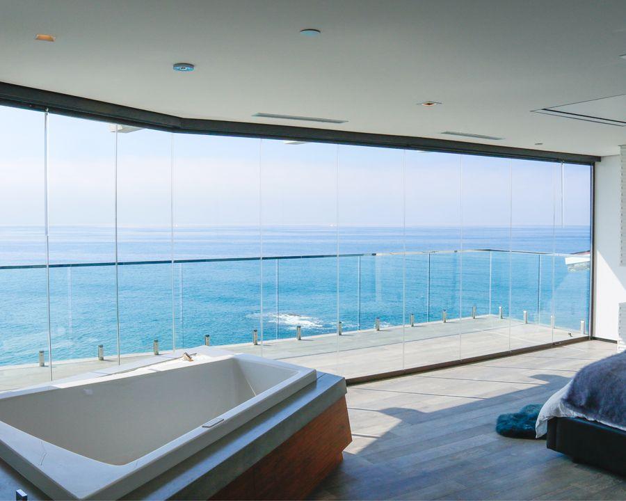 Frameless Glass Walls Cover Glass Usa Beach House Pinterest