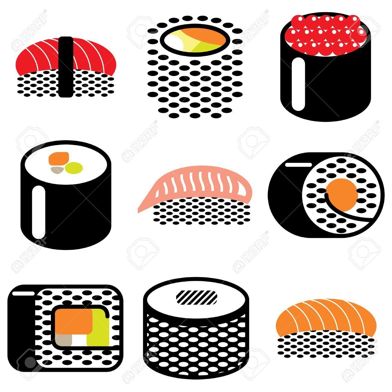sushi vector Google Search Sushi rolls, Vector, Sushi