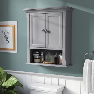 The Twillery Co Sebago 24 W X 28 H Wall Mounted Cabinet Finish Gray Wall Mounted Bathroom Cabinets Bathroom Cabinets Modern White Bathroom