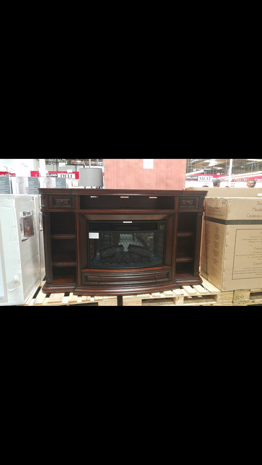 Well Universal 72 Electric Fireplace Costco