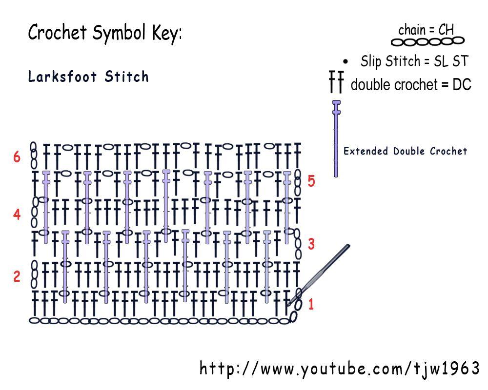 larksFOOT.jpg]   puntos crochet   Pinterest   Puntos crochet y Puntos