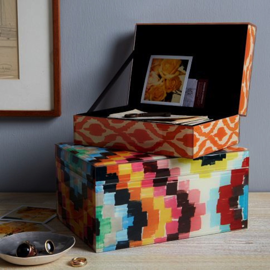 West Elm Patterned Jewelry Boxes My home is pretty much all white