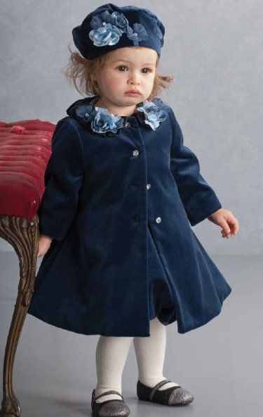 Navy Velvet Holiday Coat 3 Months To 4T At Www -3917
