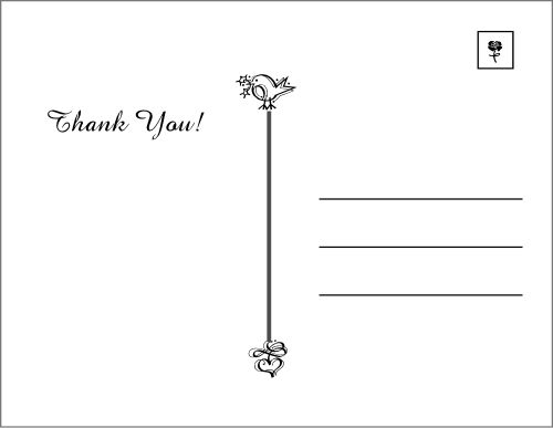 Postcard Thank You Cards - Thank You Letter 2017