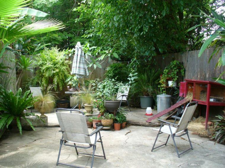original decoración de patio rústico