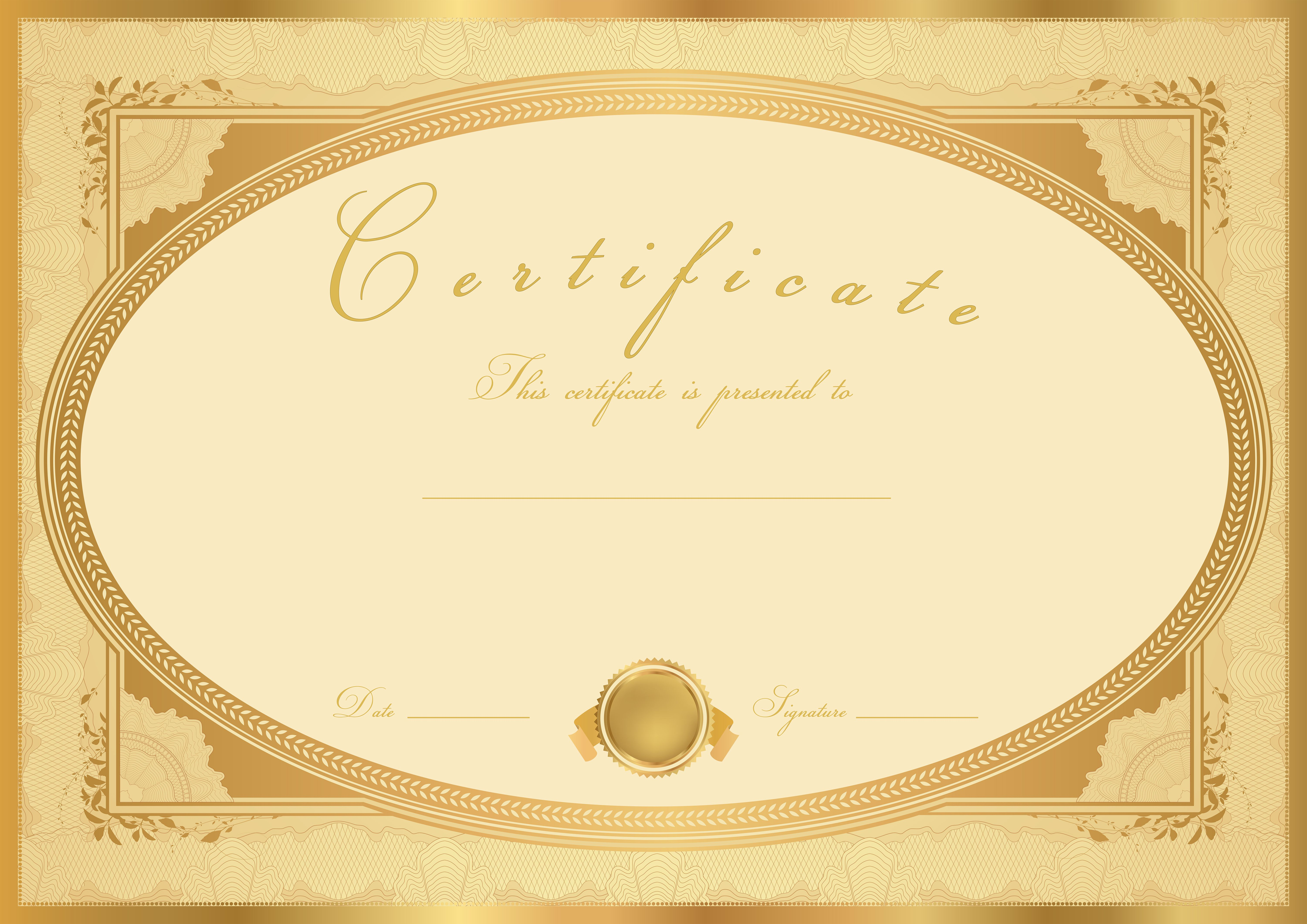 Certificate Template Clip Art Image | Gallery Yopriceville - High ...