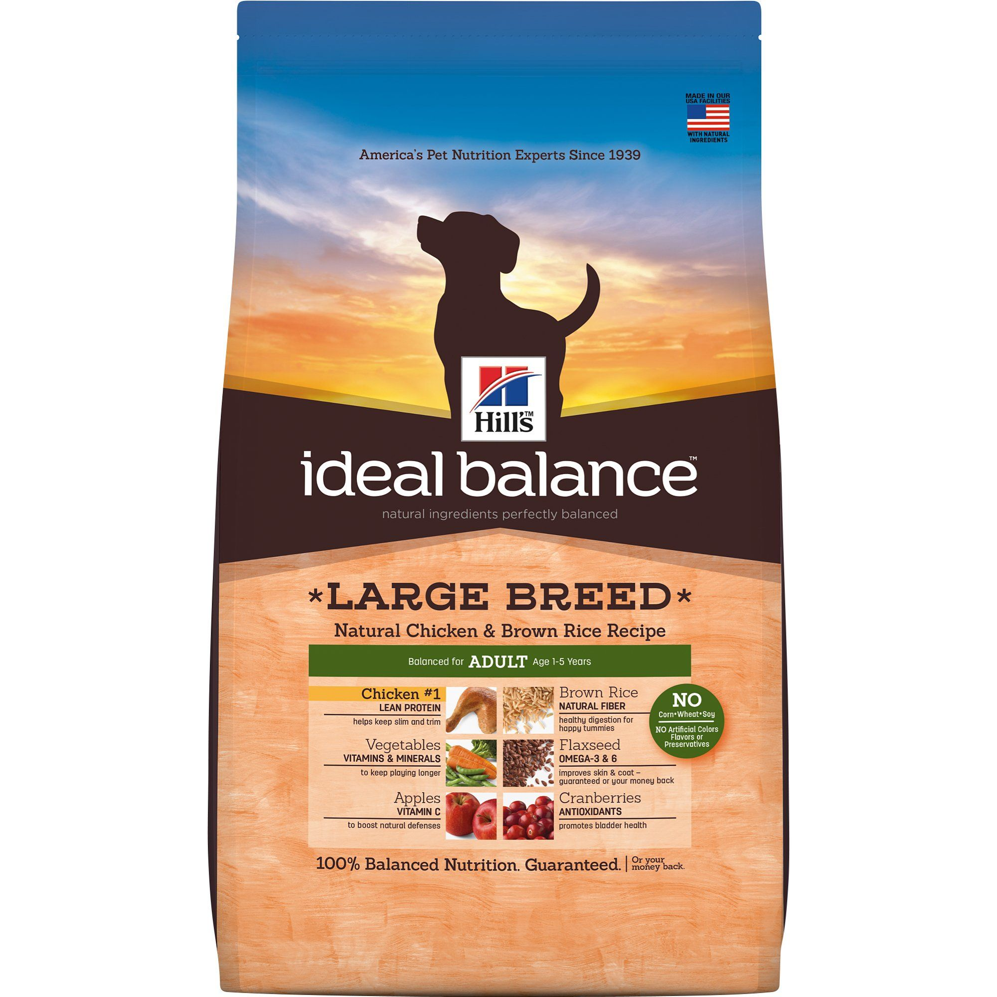 Hill S Ideal Balance Adult Large Breed Natural Chicken Brown