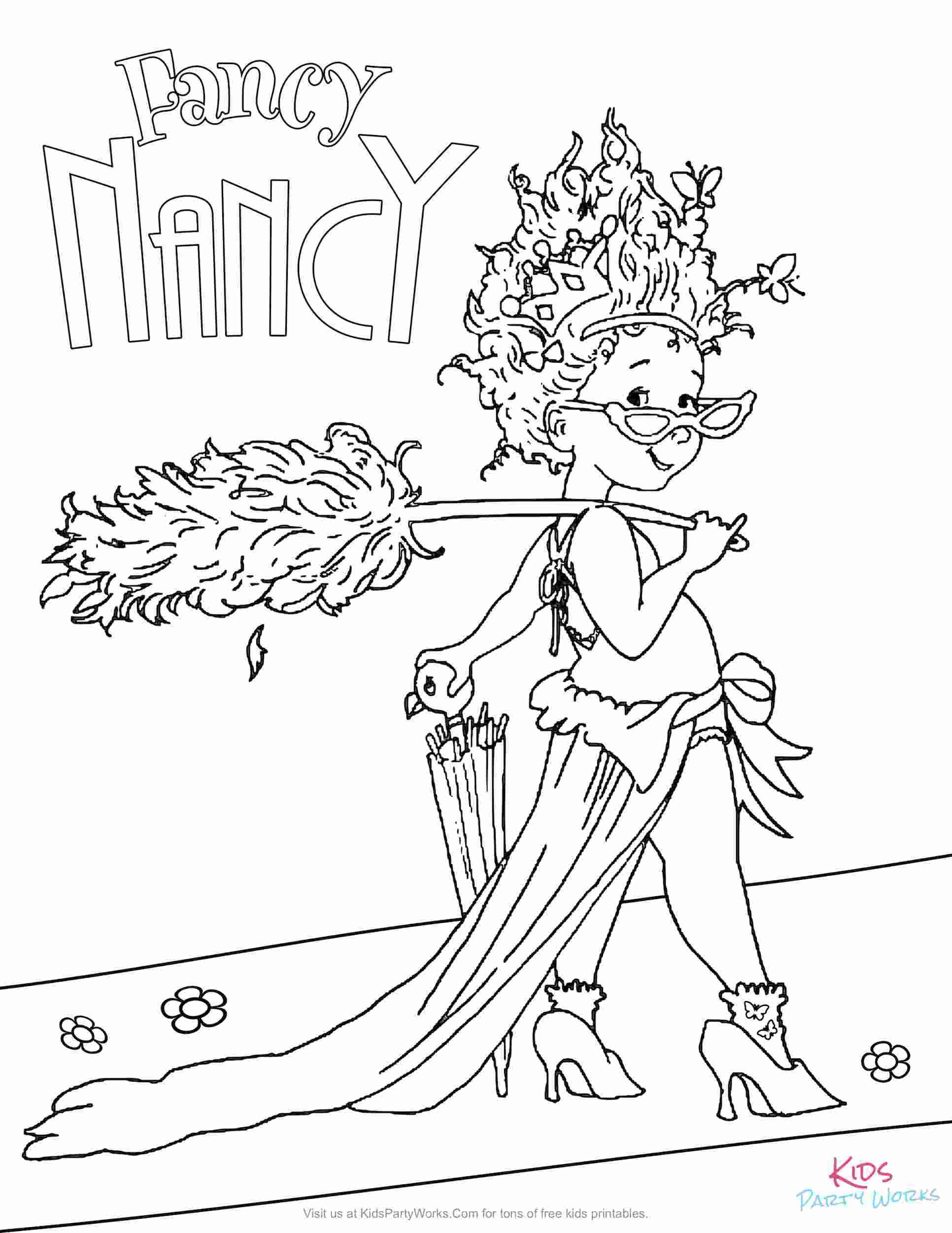 - Coloring Book: Free Printable Fancy Nancy Coloring Pages More