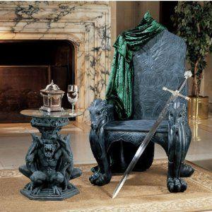 Celtic Dragon Throne Chair 695 00 Gothic Furniture Design Toscano Celtic Dragon