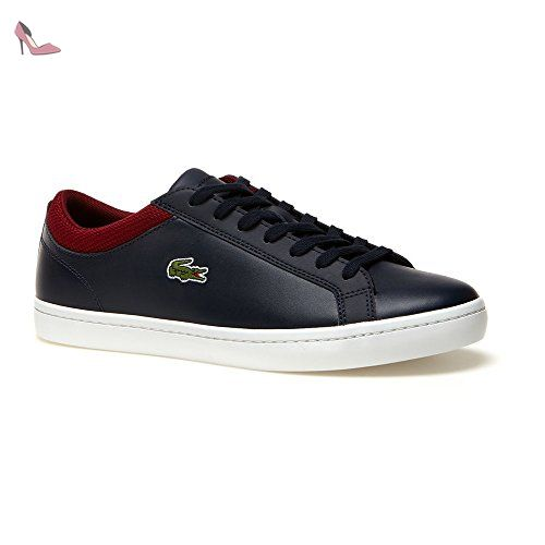 Lacoste Basses Homme Bleu Navy Dark Red Chaussures Lacoste Partner Link