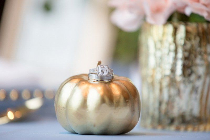 Fall pumpkin. Gold pumpkin. Styled shoot by Joanna Moss Photography with Glass Slipper Event Planning for a Modern Cinderella Wedding at Terminal City Club, British Columbia.