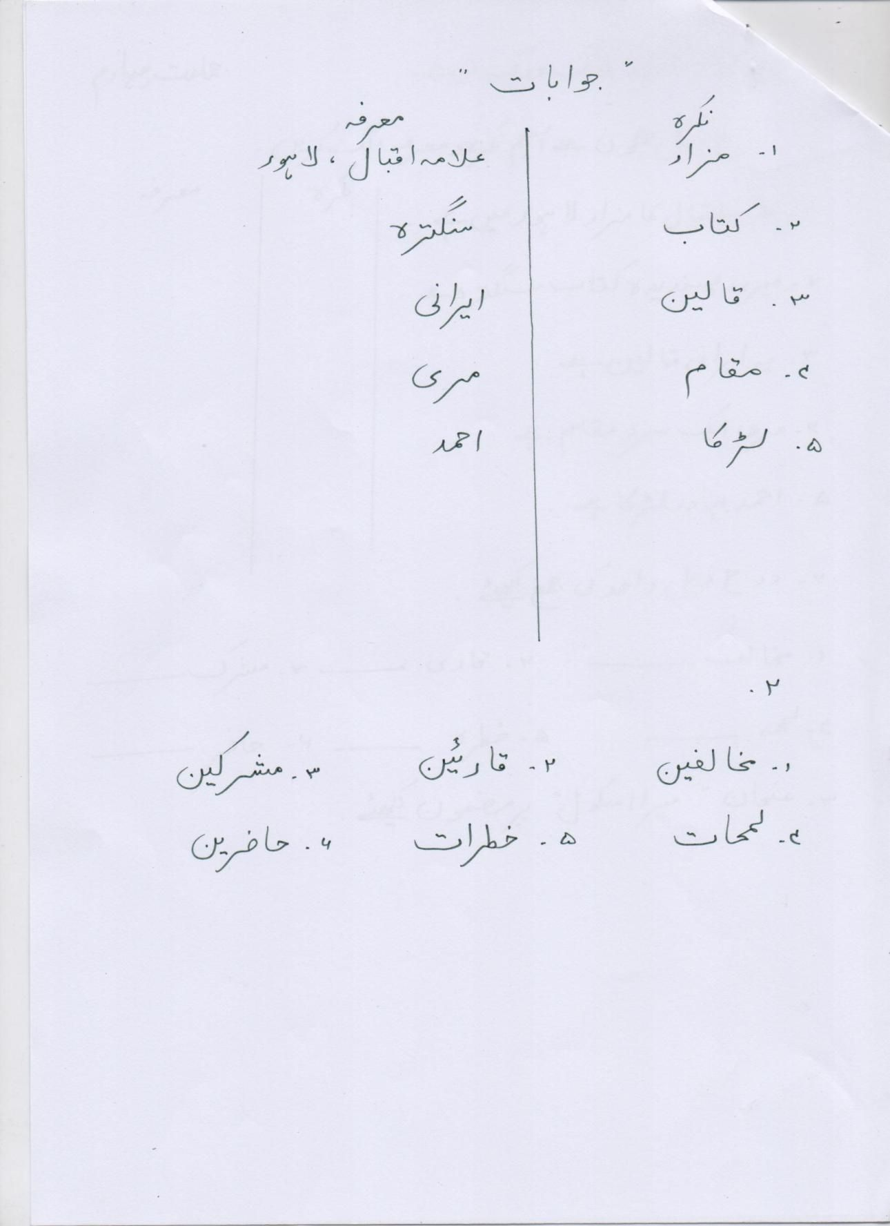 small resolution of Urdu Worksheet For Class 4 Karachi   Printable Worksheets and Activities  for Teachers