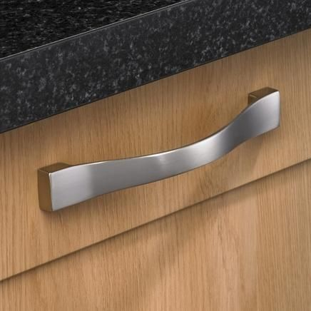 Stainless Steel Effect Curved D Handle Kitchen Handles Howdens Joinery