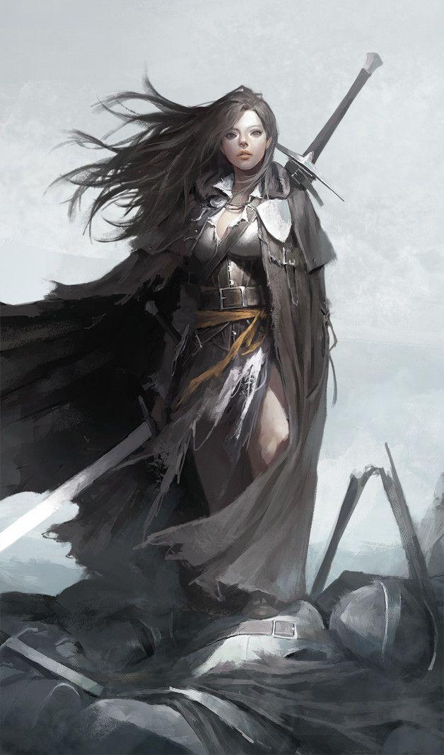 Lady Knight, Dongho Kang on ArtStation at https://www.artstation.com/artwork/yXYO5