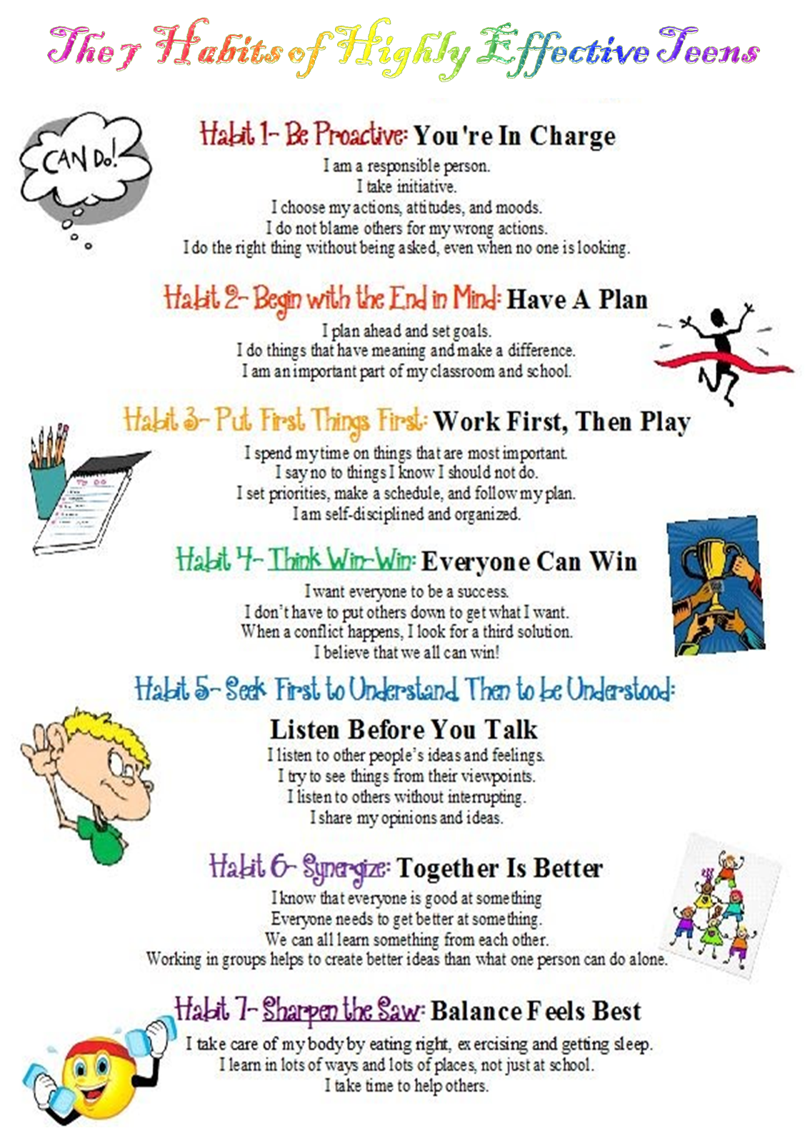 Worksheets 7 Habits Of Highly Effective Teens Worksheets 7 habits of highly effective teens zilwaukee i want to use this in my