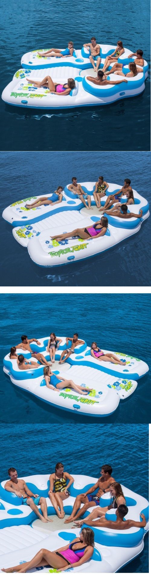Inflatable Floats And Tubes 79801: Tropical Tahiti Giant 7 Person Inflatable  Raft Pool Lake Ocean