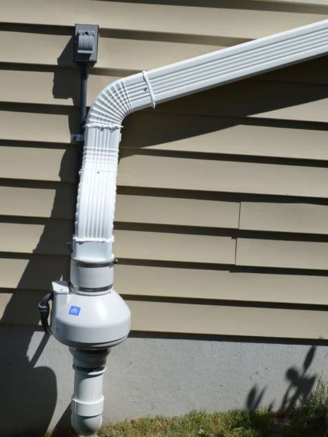 Radon Fan Outside House Radon Mitigation System