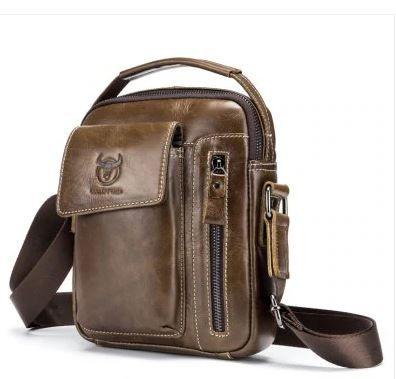 adcb0314c2e7 BULLCAPTAIN Men Genuine Leather Shoulder Bag - DEEP BROWN 237866203 -  https   www