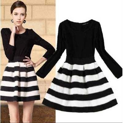 Vestido japones blanco y negro