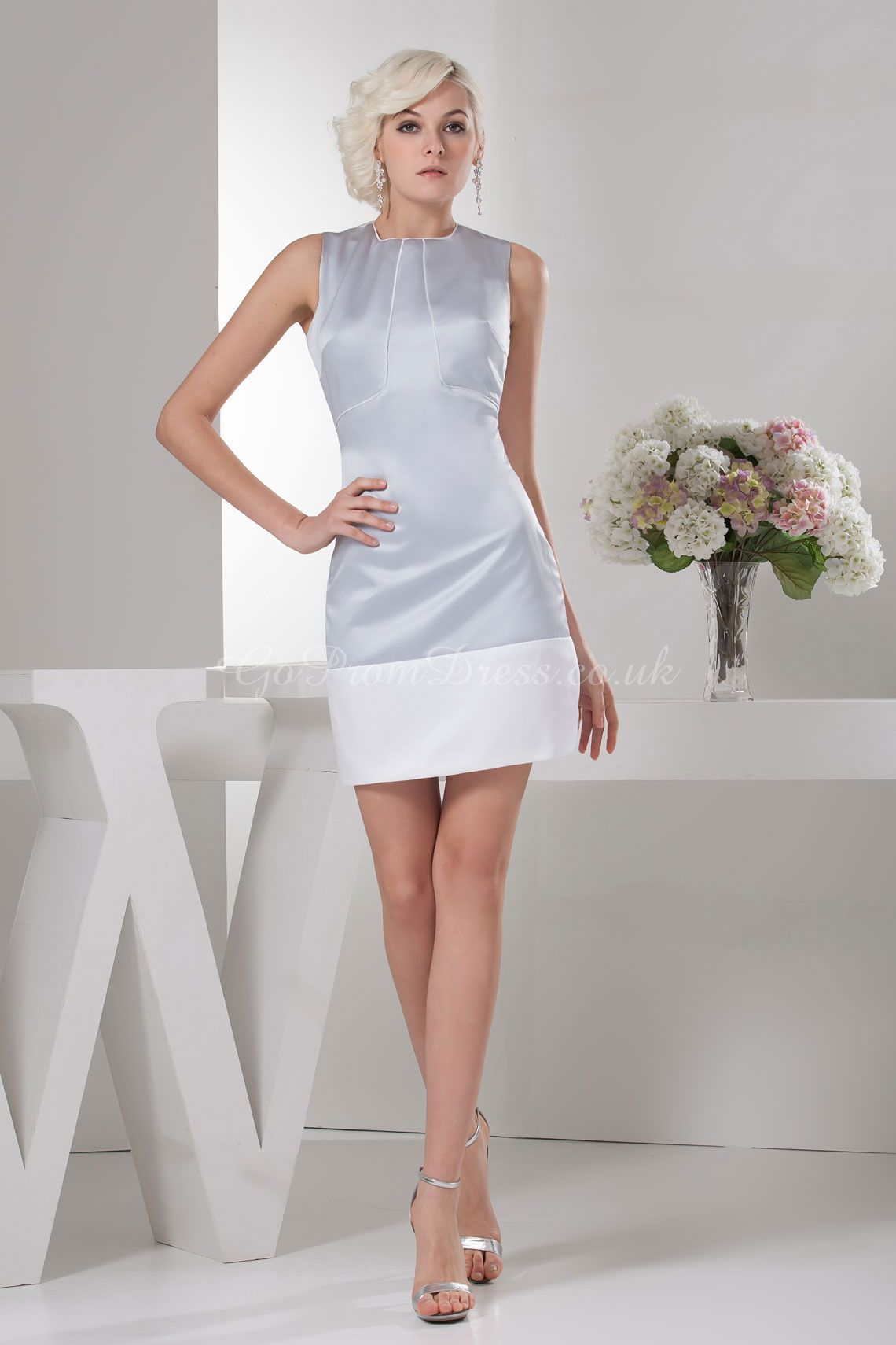 Gray grey bridesmaid dress gopromdress wedding ceremony