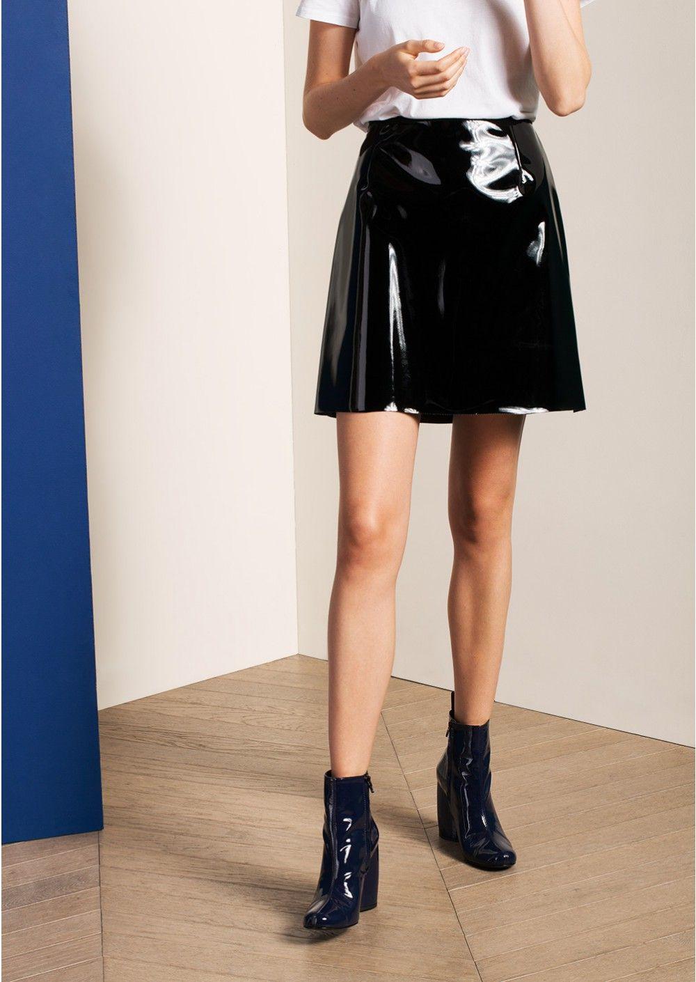 mini jupe en vinyle noire femme tara jarmon 2 pvc. Black Bedroom Furniture Sets. Home Design Ideas