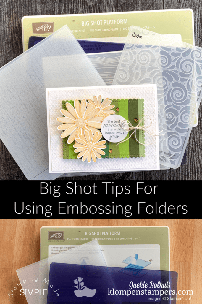 Big Shot Sandwich Guide The Ultimate For Embossing Folders Plates In 2020 Card Making Tutorials Card Making Tips Simple Cards