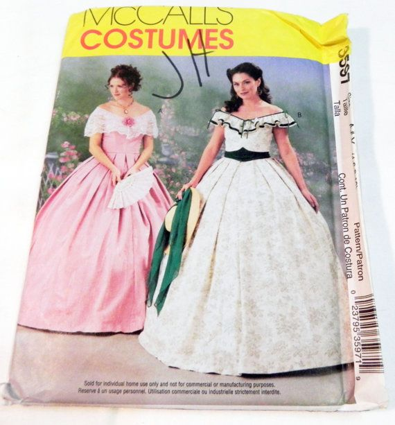 Civil War 1800s Southern Belle Dress Gown By