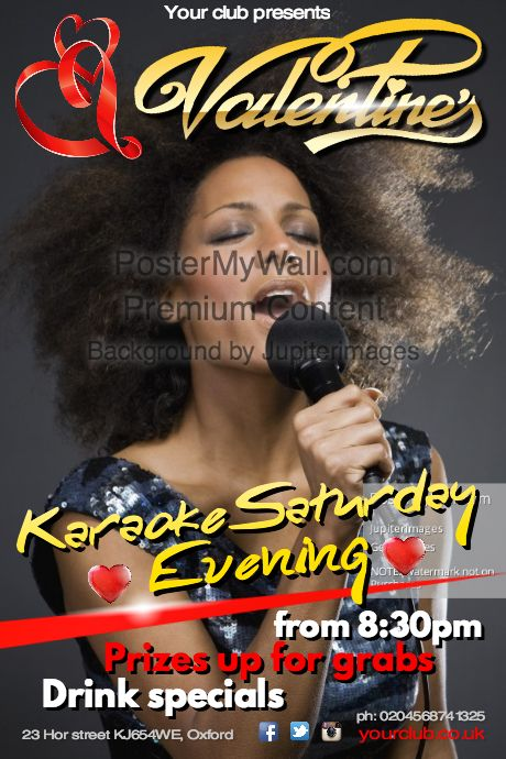 Create amazing karaoke posters by customizing our easy to use templates. Add your content and be done in minutes. Free downloads. High quality prints.