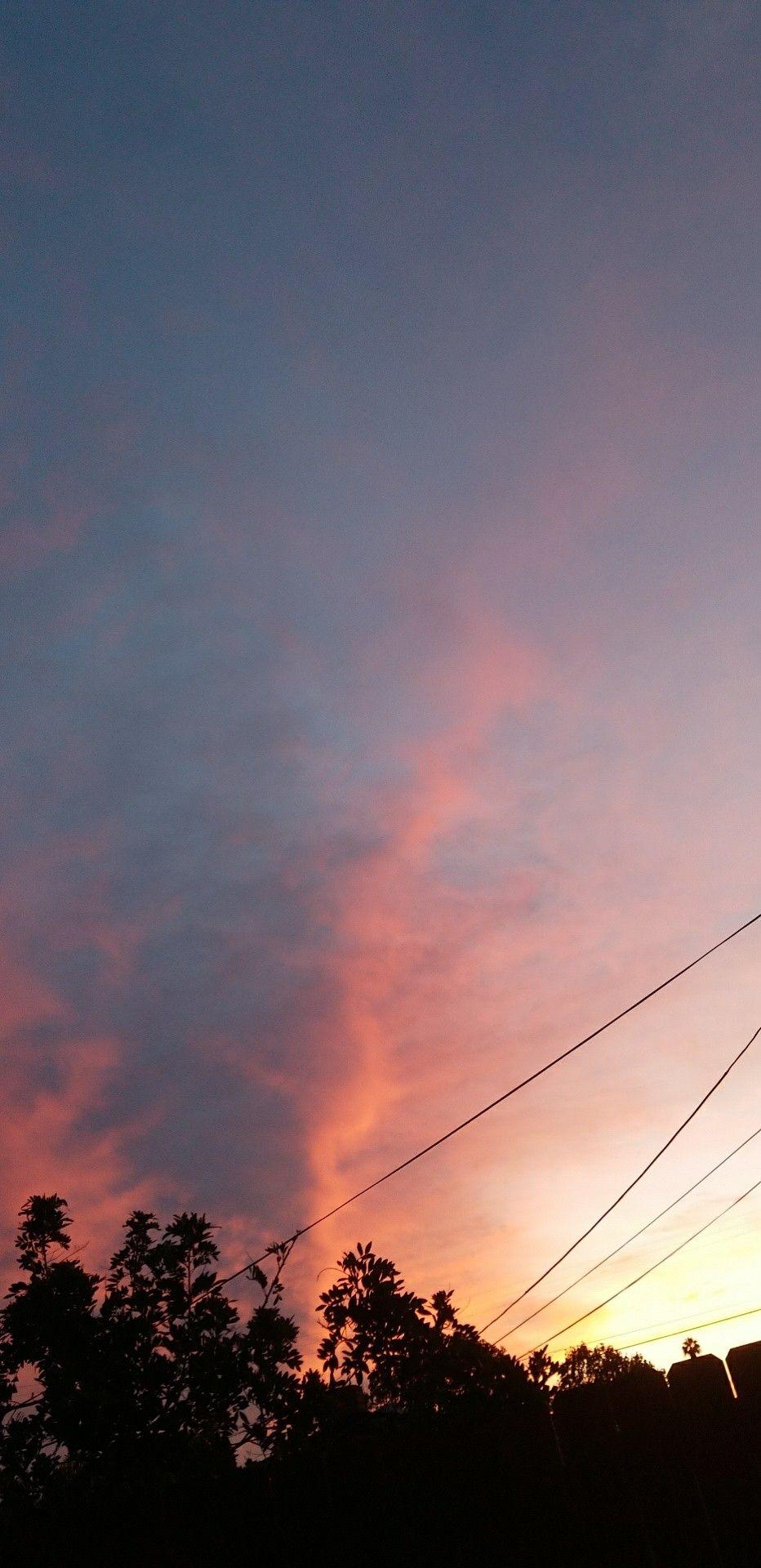 I Just Took This Right Now What A Beautiful Sunrise Latar Belakang Pemandangan Langit