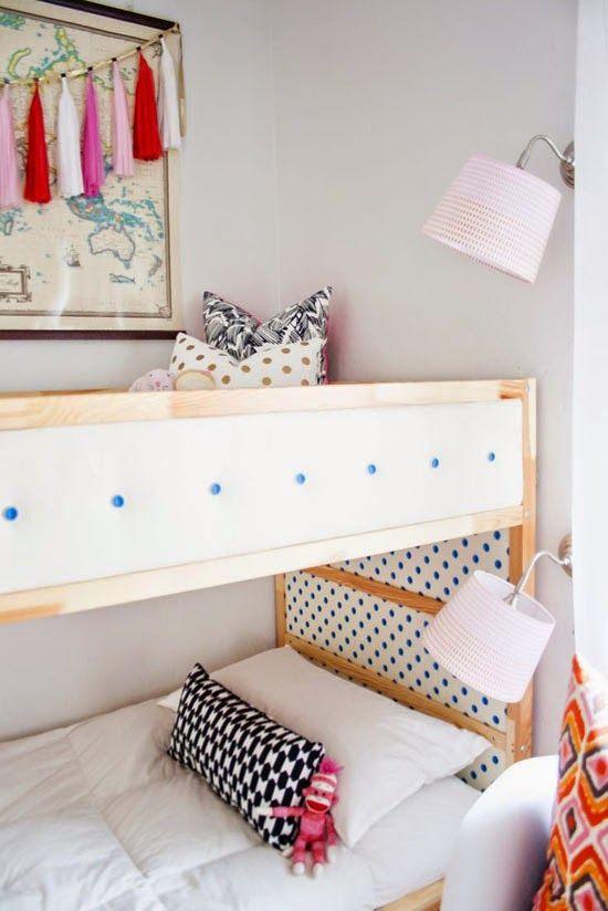 Mommo design ikea hacks girls room pinterest ikea for Kura bed decoration
